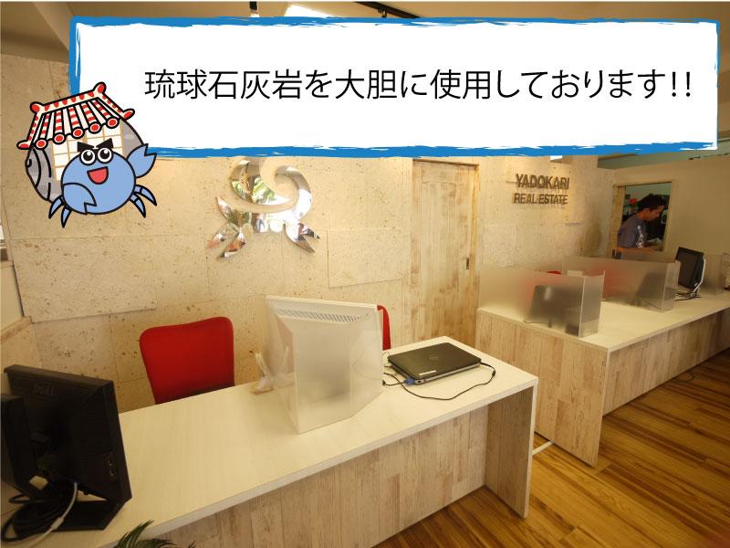 店内写真琉球石灰岩